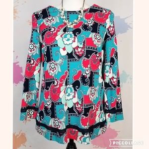 CROWN & IVY Floral Pullover Blouse - Women's S